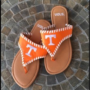 FINAL PRICE‼️ UNIVERSITY OF TENNESSEE VOLS SANDALS